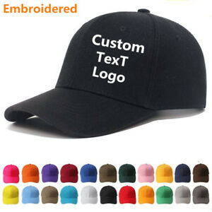 Image is loading NEW-Personalised-Custom-Embroidered-Baseball-Cap-With-ANY- 87b75fac7a60