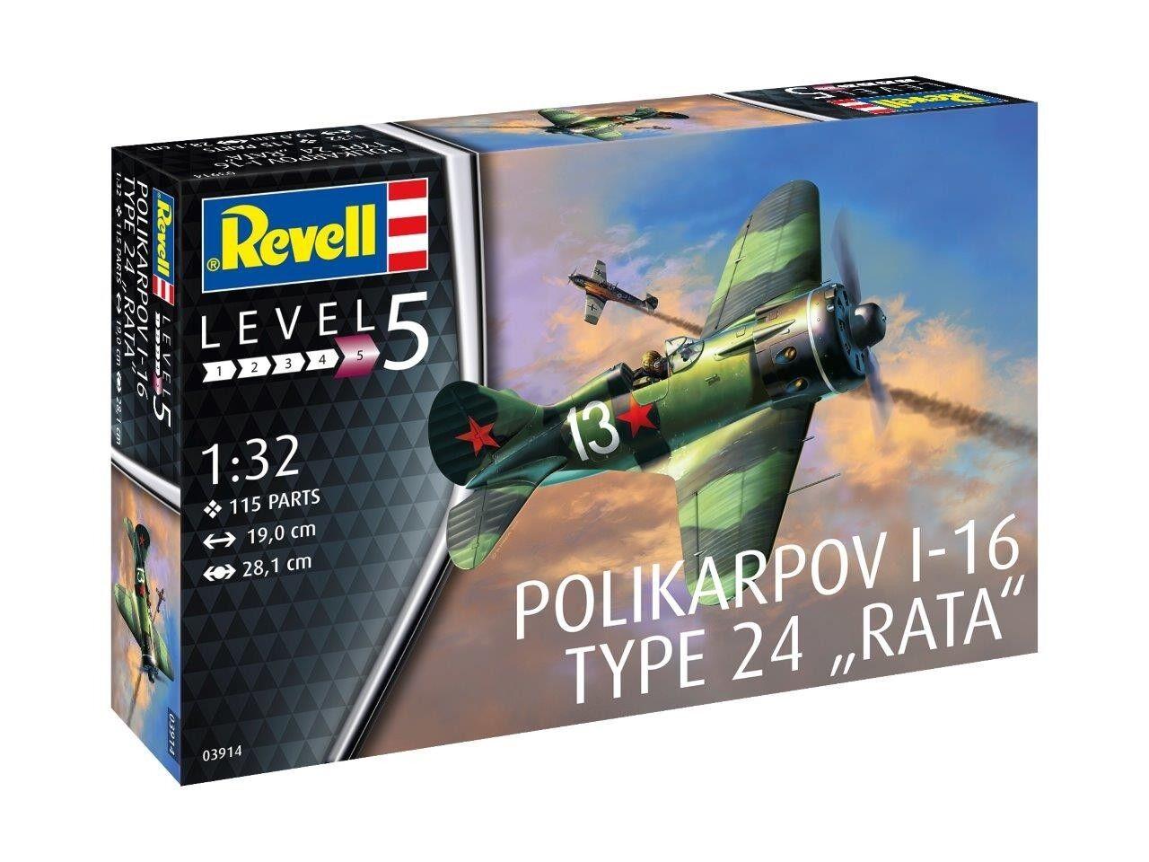 Revell 1 32 Polikarpov I-16 Type 24 ''Rata''