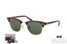 Ray Ban 3016 RB3016 W0366 49 CLUBMASTER occhiali da sole wayfarer havana green