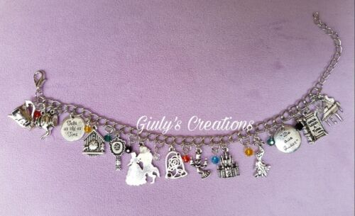 La Belle Et la Bête Beauty Beast Bracelet Disney Animé Gravure sans Nickel