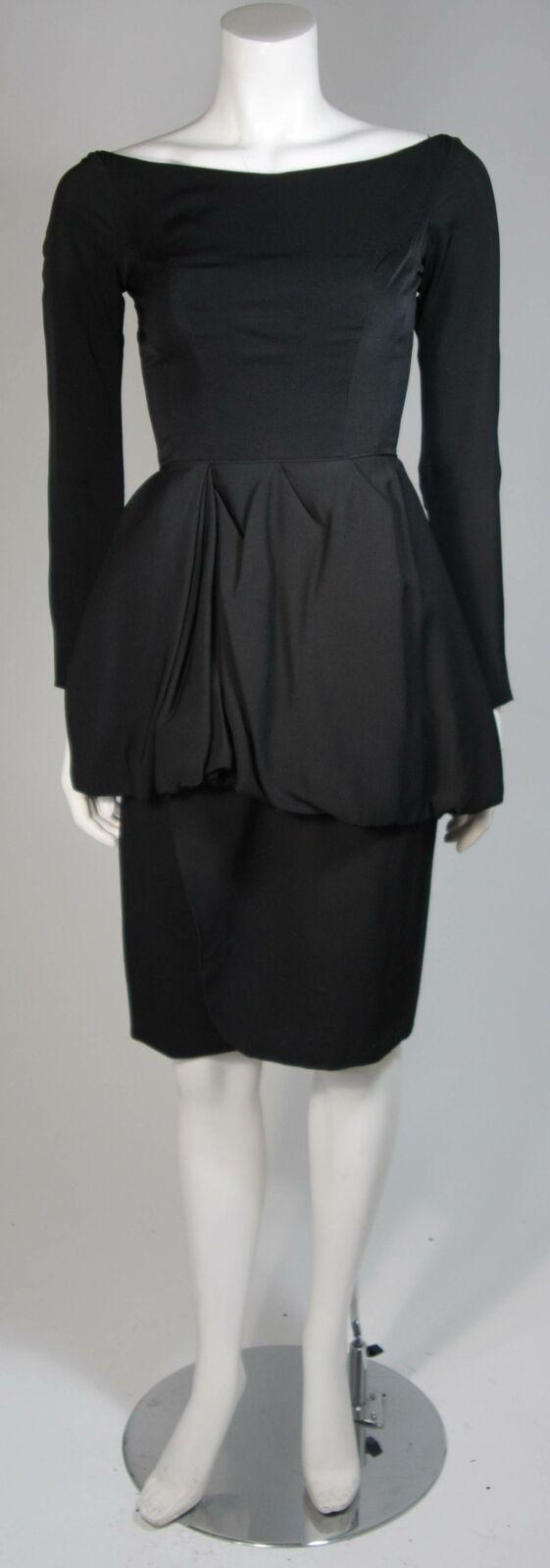CEIL CHAPMAN Black Draped Princess Style Waist Dr… - image 2