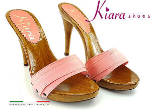 Clogs-CORAL-heel-11-cm-Made-in-Italy-35-al-42-KM7101-coral