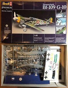 REVELL-4522-MESSERSCHMITT-Bf-109-G-10-1-48-PREMIUM-PLASTIC-KIT-METAL-PARTS