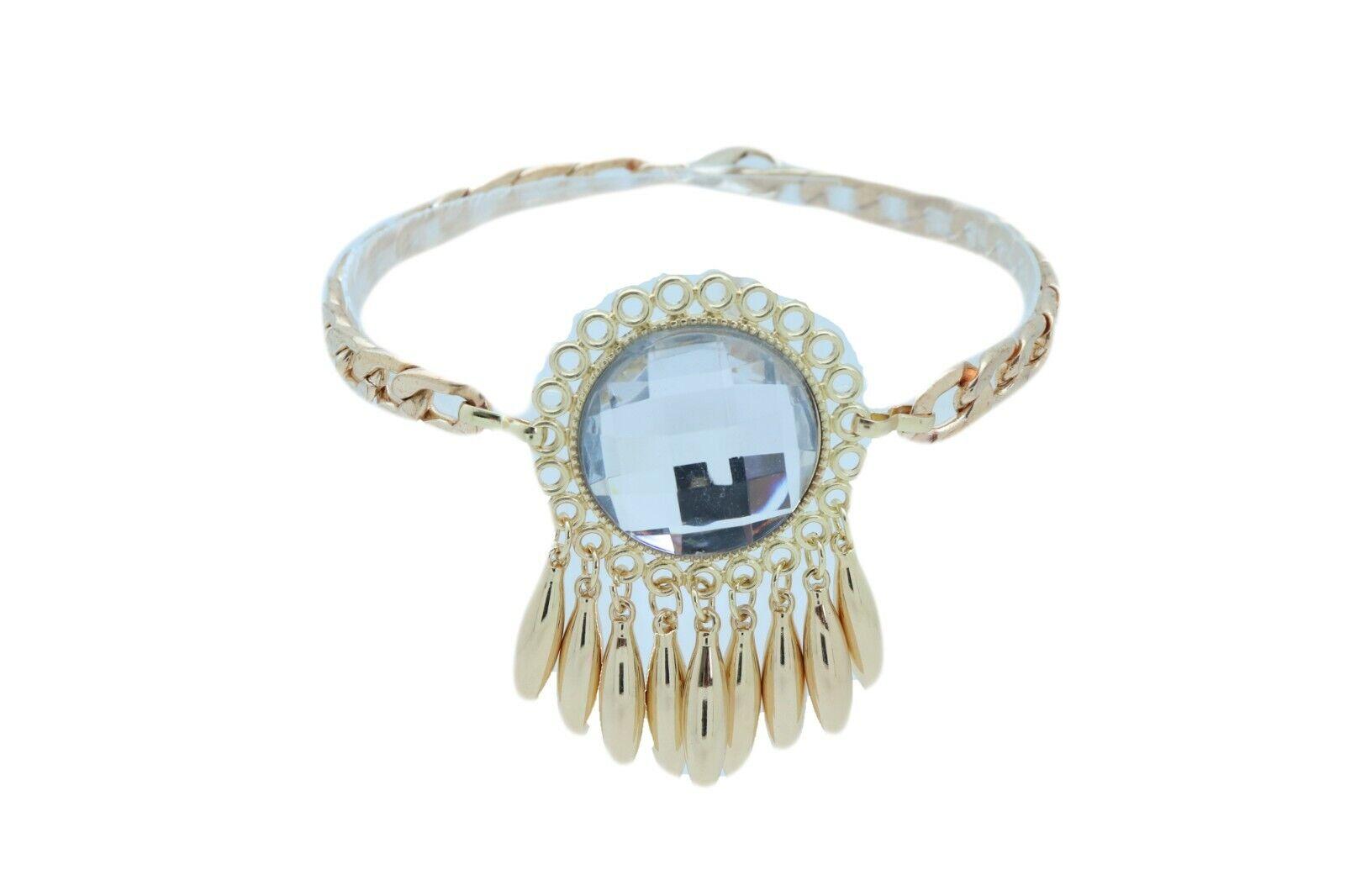Women Gold Metal Boot Chain Bracelet Shoe Anklet Sun Flower Dressy Style Charm