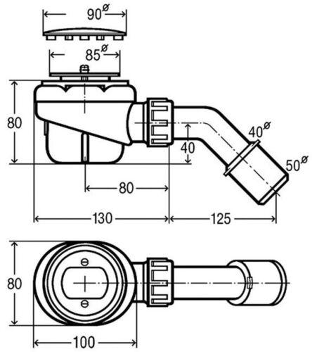 Viega Domoplex Ablaufgarnitur Geruchsverschluss Ø 50 mm Duschwanne Siphon Sifon