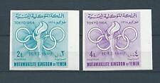 YEMEN - 1964 YT 163 à 164 - NON DENTELÉE - TIMBRES NEUFS** MNH LUXE