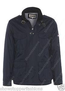 NUOVO-da-uomo-giacca-cappotto-elegante-taglia-S-M-L-XL-NAVY-TRENCH-MAC-colletto