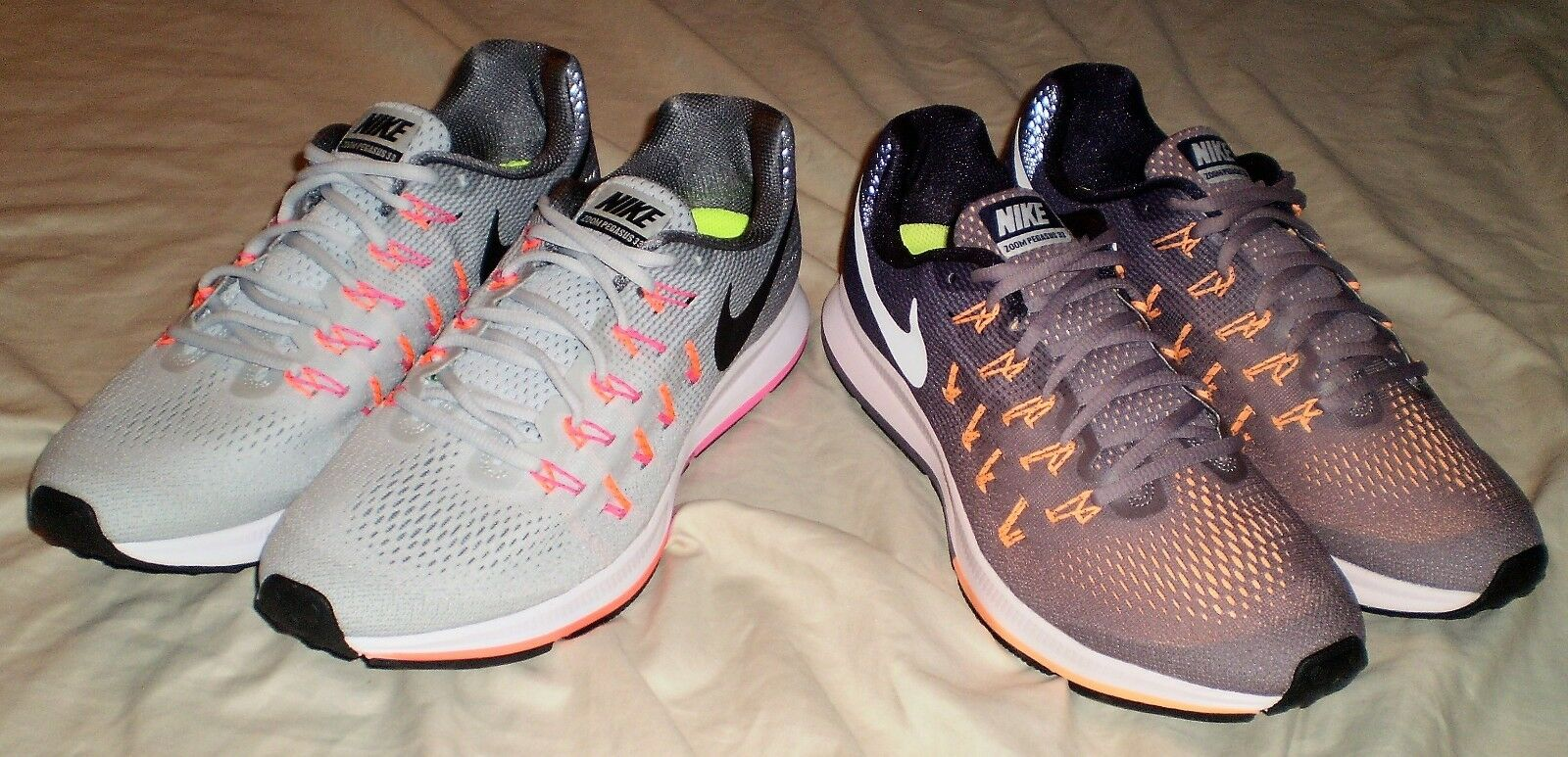 WOMENS NIKE AIR ZOOM PEGASUS 33 RUNNING SHOES SIZE 12