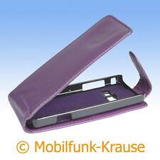 Flip Case Etui Handytasche Tasche Hülle f. Samsung GT-S5611 / S5611 (Violett)