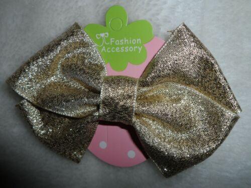 Natale Da Donna//Ragazze GRANDE ROSSO//ORO VELLUTO FIOCCO//Glitter grandi per capelli Molletta