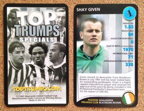 Top Trumps única tarjeta Newcastle United Football Club-Varios jugadores