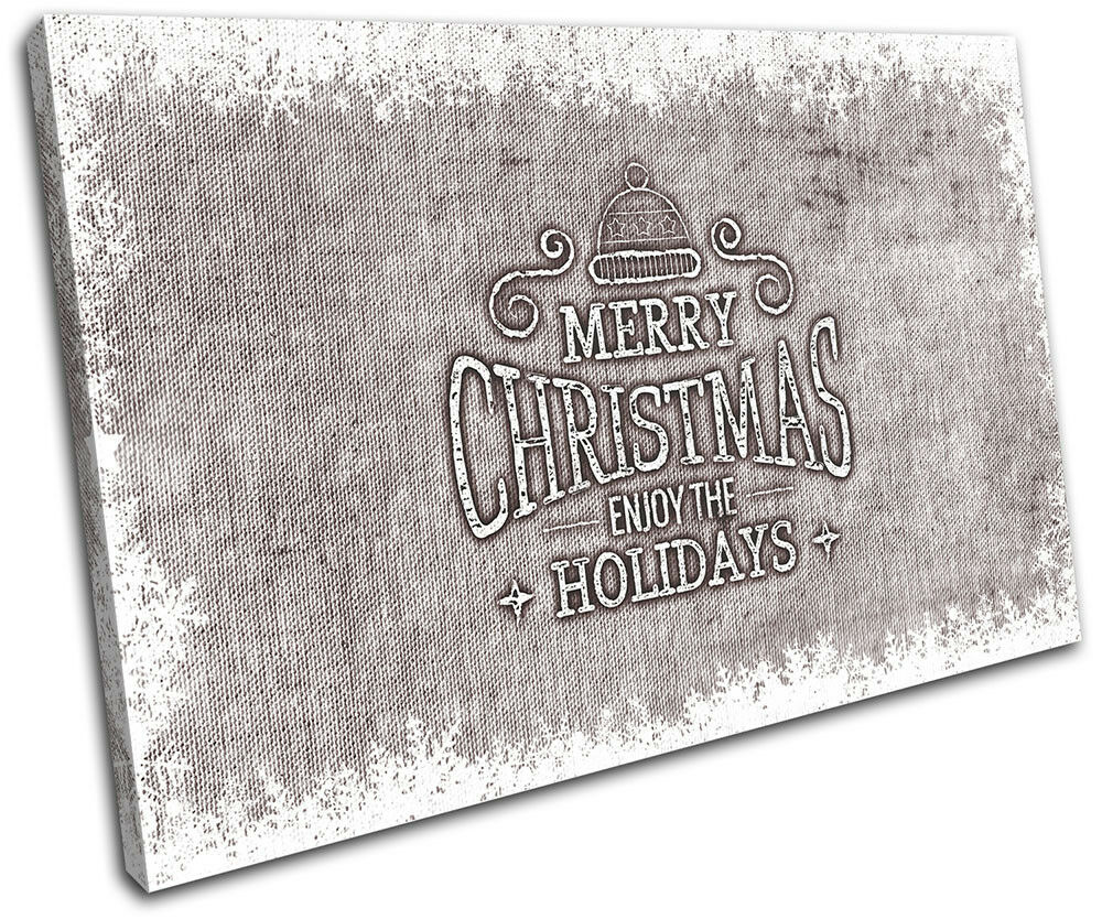 Christmas Picture Decoration Wall Canvas ART Print XMAS Picture Christmas Gift Hessian 05 Brown Ch 936065