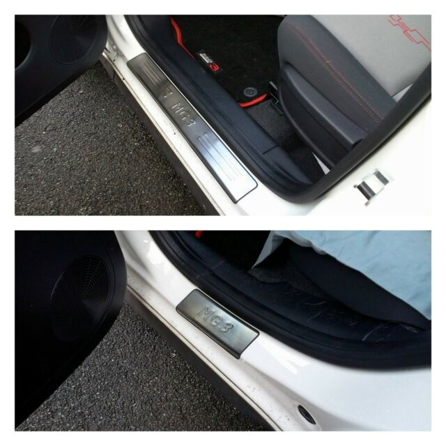 MG3 DOOR SILL PROTECTORS SET SLIM S//LESS STEEL MG3 in RED AND BLACK UNIQUE TO US