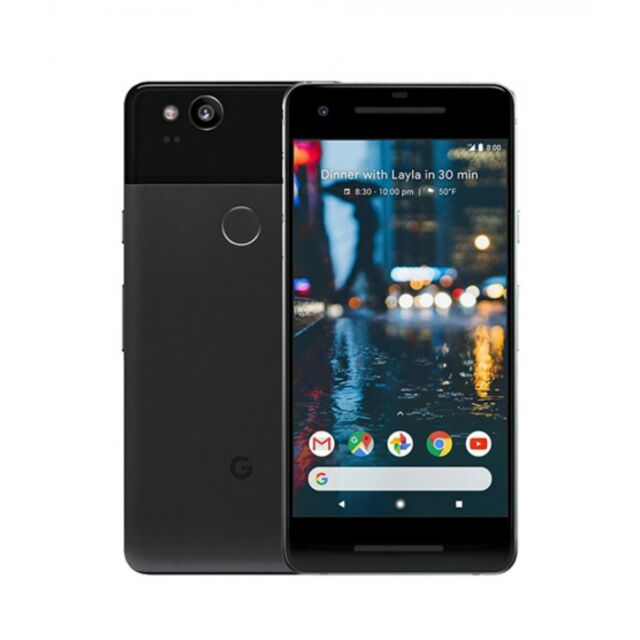 Google Pixel 2 - 64GB - Just Black (T-mobile AT&T Unlocked) Smartphone A