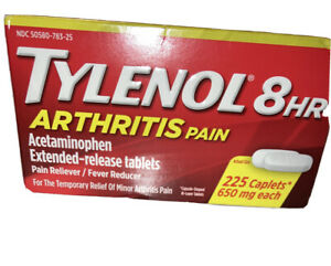 TYLENOL Arthritis Pain Caplets 225 ea      EXPIRES 7/2023
