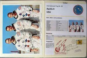 s1845-Raumfahrt-Space-Kosmos-Apollo-9-Sammlung-mit-Autogrammen