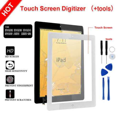 Touch Screen Glass Digitizer Replacement Assembly For iPad 2 3 4 Air 1 mini 1 2