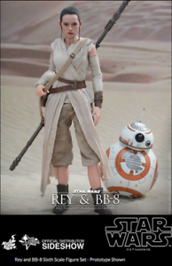 Star Wars Hot Toys Force Awakens Rey & BB-8 Set 1 6 Scale Figure HOTMMS337
