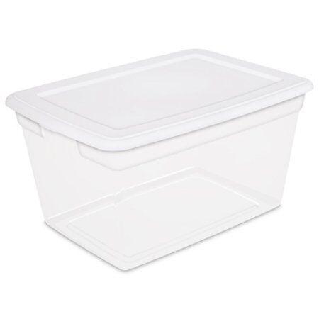 Sterilite 58 Quart Storage Box- White, Case of 8 W