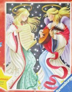 "TWO ANGELS 1000 Piece Ravensburger Christmas Jigsaw Puzzle 27""x20"" Germany NIB"