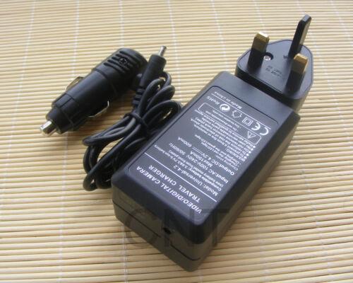 P72 V88 D80S D325 Batería AC//DC Cargador NP-120 NP120 para Ordro HDV-D320