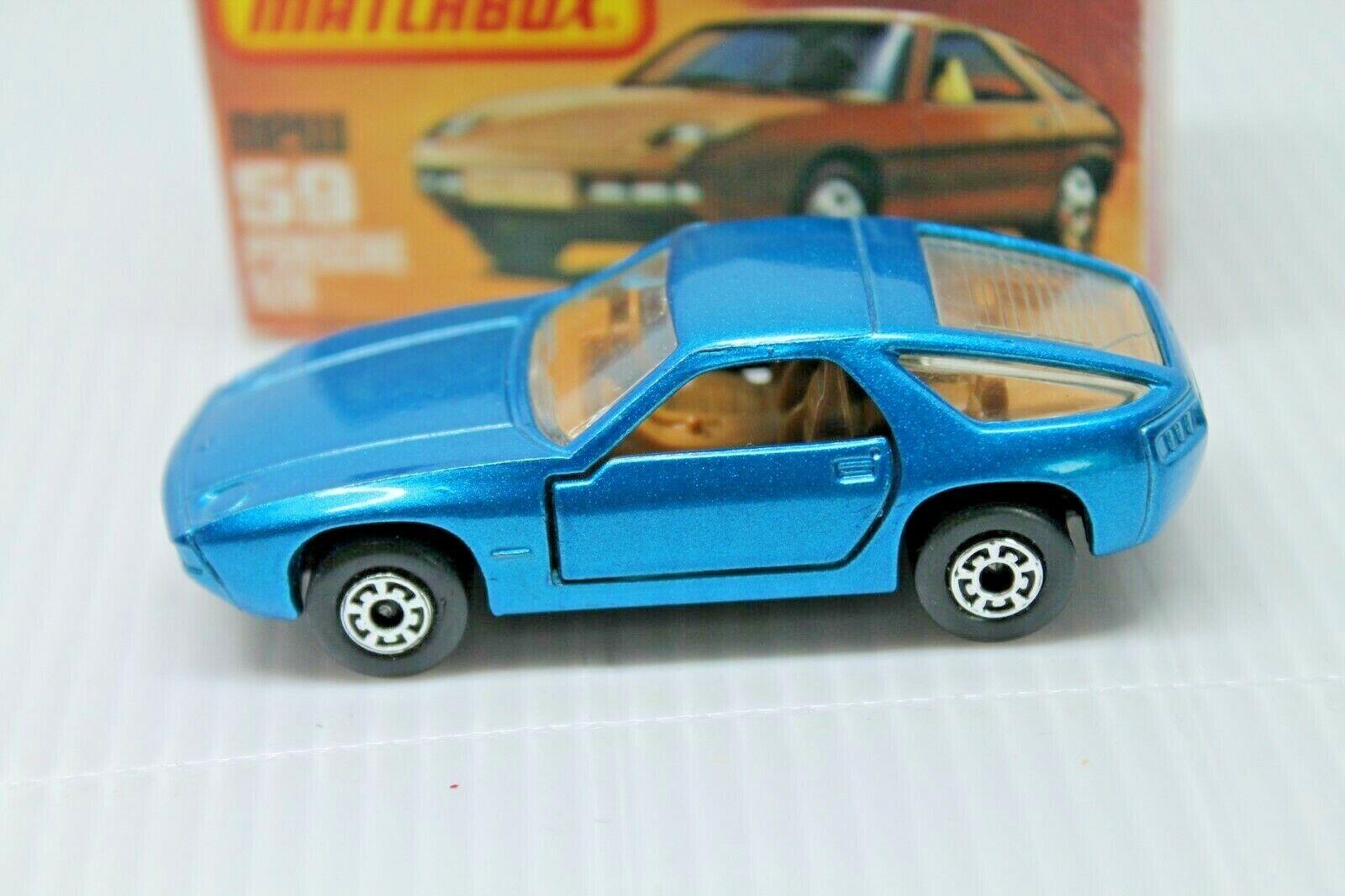 Matchbox Superfast 59  PORSCHE 928  Neuf dans sa boîte  Comme neuf  bleumetallic