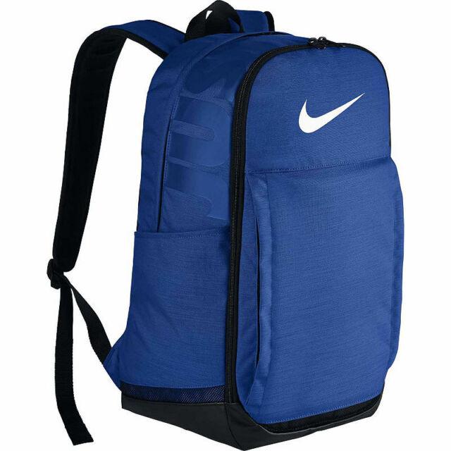 Nike Brasilia XL Extra Large Training Backpack Blue Black White Ba5331 480