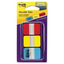 3m Post It Durable Tabs Red Yellow Blue1 In X 15 In 22tabsper 686 Ryb