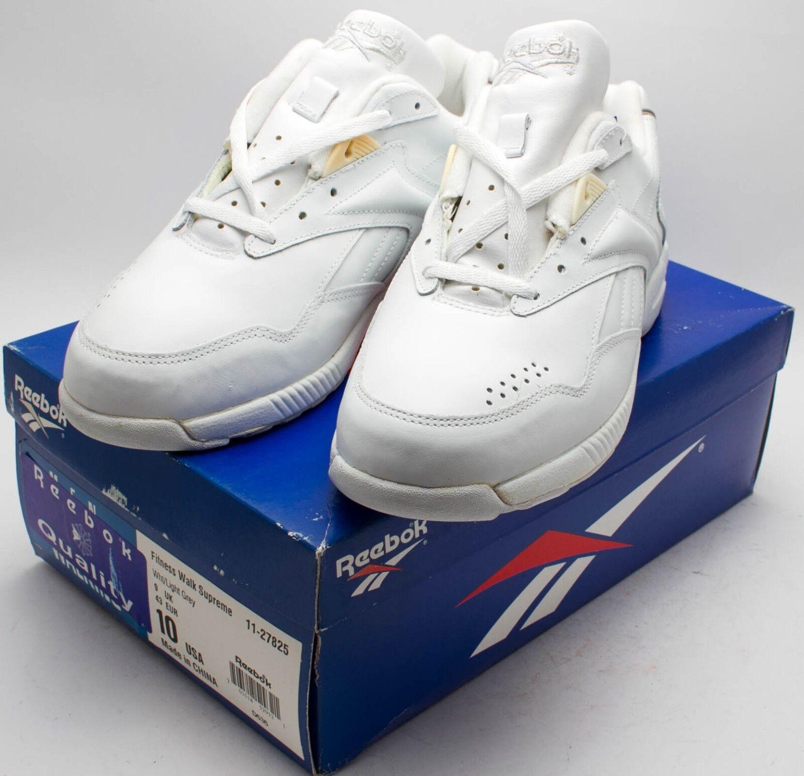 Reebok Hommes Vintage 1993 Fitness Walk Supreme Chaussures 11-27825 Blanc Taille 10