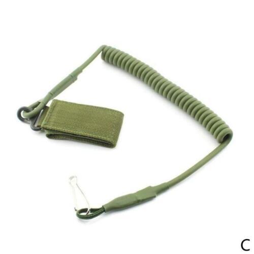 Elastic Lanyard Military Buckle Tactical Gun Rifle Pistol Sling Hook Tan