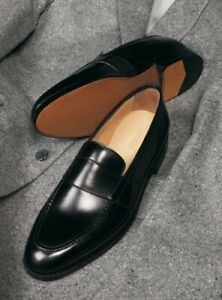 Handmade-Hommes-Cuir-Chaussures-Hommes-Noir-Cuir-Formelle-Chaussures-Homme-Chaussures