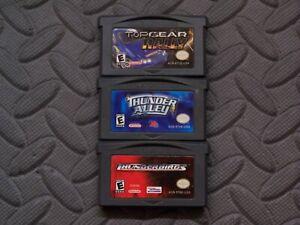 Lot Nintendo Game Boy Advance GBA Games Top Gear Rally, Thunder Alley, +