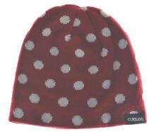 Cuglog Thor Polka Dot Knit Beanie Hat Red White