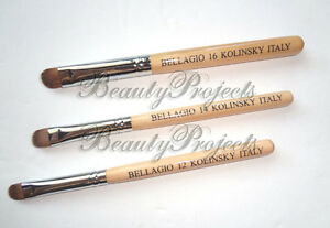 Nail-Art-Wooden-French-Brush-Size-12-14-amp-16-High-Quality-Kolinsky-Hair-Tan