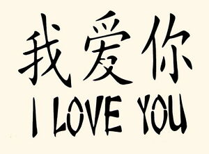 stencil i love you chinese asian symbols stencils new | ebay