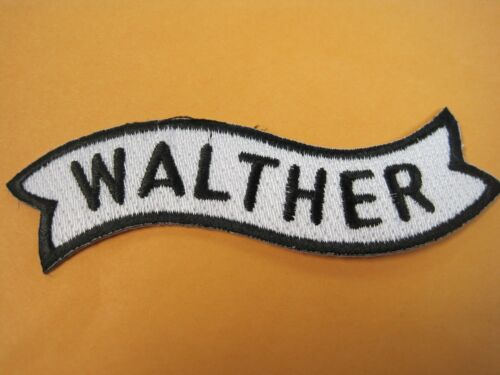 WALTHER FIREARMS VEST PATCH 1 X 4 INCH SEW ON GUN PATCH 100% EMBROIDERY LOOK!