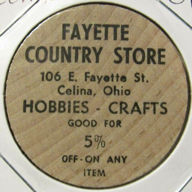 Token Ohio OH Wooden Nickel Vintage Waynesville Drug Store Waynesville