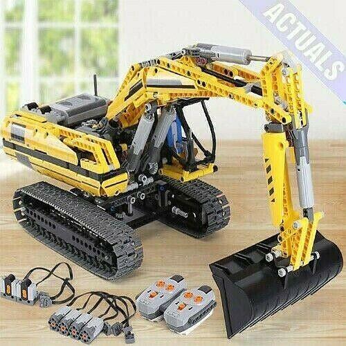 Excavadora Motorizada DHL Technic bloques de construcción ladrillos Cargador De Rueda Para Niños Juguete
