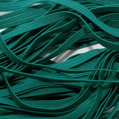 ONE METRE OF SOFT OCEAN GREEN COLOUR 6 MM WIDE STRETCHY FLAT ELASTIC