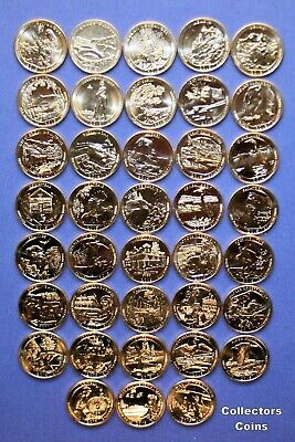 2014 S America The Beautiful Quarters 5 Coin Set-Mint Bags-Free Shipping ATB
