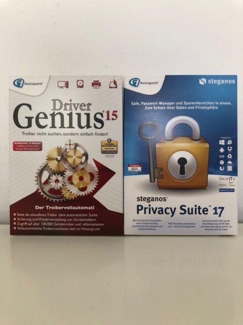 DriverGenius  15 Automatische Treiber Suche + Steganos Privacy Suite 17 CD/DVD