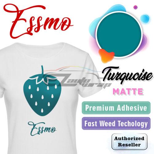 Turquoise Matte Solid Heat Transfer Vinyl HTV T-Shirt 20 Iron Heat Press DP21