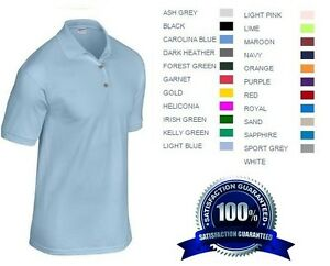 6 Custom Embroidered Free Logo Dry Blend Polo Shirts