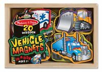 Melissa And Doug Wooden Vehicle Magnets In A Box (20 Pieces) , New, Free Shippin on sale