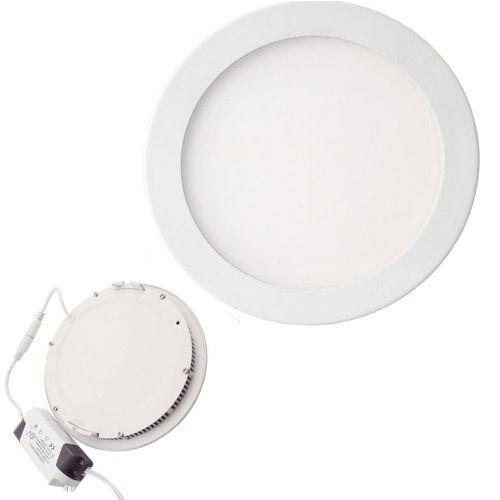 faretto a led da incasso 18 watt rotondo luce bianca 6500k pannello led slim