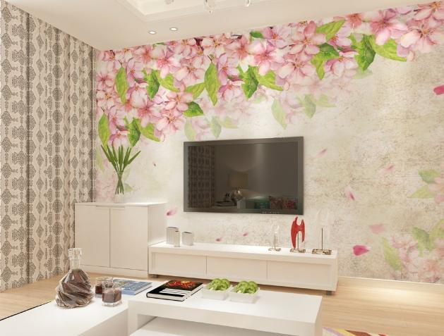 3D Peach Bloom 545 Wallpaper Murals Wall Print Wallpaper Mural AJ WALL UK Lemon
