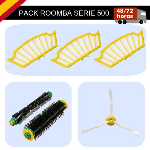 PACK 6 EN 1 iROBOT ROOMBA 565 Pet 3 FILTROS+2 RODILLOS+1 CEPILLO SERIE  500