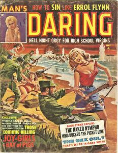 Man's Daring Magazine: September 1963 - Sex, Torture, Errol Flynn, Pulp, Nudes