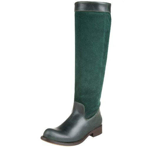 JOHN FLUEVOG ADRIANS ALEXIS RIDING BOOTS 7 GREEN LEATHER & SUEDE