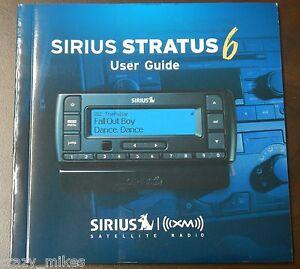 sirius radio stratus 6 sv6 user guide manual new free rh ebay com SiriusXM Satellite Radio Log In Sirius Satellite Radio Antenna